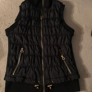 Calvin Klein quilted black vest. Small.